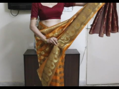 How To Wear South Indian Saree-Simple Saree Draping Method Tutoril *