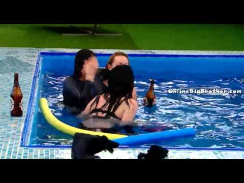 BB Party pt 3 Heather gets tossed into teh pool