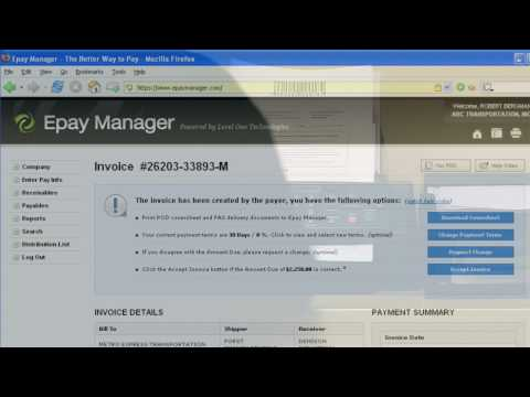 Epay Manager: Help Video - Invoicing