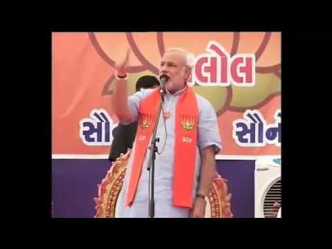 Narendra Modi addressing BJP campaign rally in Kalol in Central Gujarat