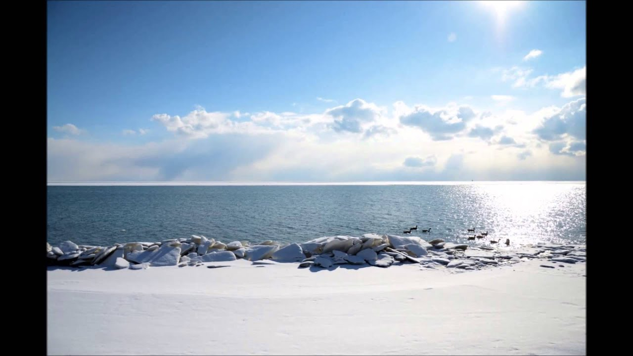 time lapse photography of lake erie in the winter youtube