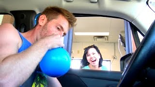 Funny Helium in the Drive Thru!