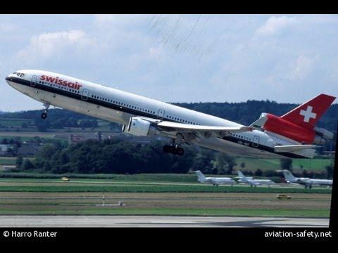 【航空事故の瞬間2】スイス航空111便 墜落事故 交信音声記録 SR111 1998年9月2日 (飛行機事故/air Crash)