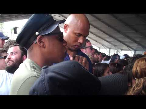 Jay Z & Beyonce @ Coachella watching Beach House perform Music Videos