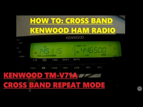 Kenwood TM-V71 Crossband Repeat Demo