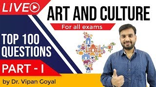 Art and Culture I Top 100 MCQs for UPSC State PCS SSC Railways I Part 1 by Dr Vipan Goyal