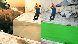 How to replace a green screen background