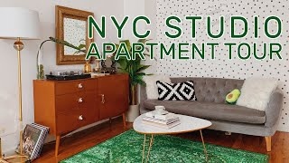 NYC Studio Apartment Tour + Decor Ideas | Upper East Side - 320 Square Ft