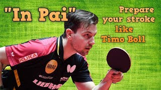 """""""In Pai"""": Prepare your stroke like a professional table tennis player"""