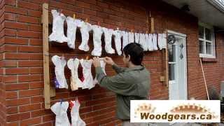Under-eaves clothesline