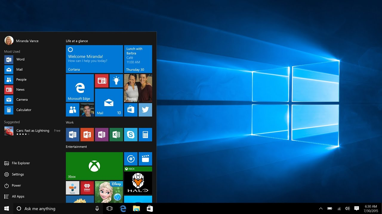 Remote Microsoft Windows 10 Training and Support Services
