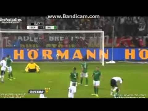 Sami Khedira Goal (Germany 0-1 Ireland) 11/10/2013