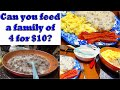 Can You Feed Your Family of 4 for $10?  Collab With YouTube Videos Will Show You That You Can!