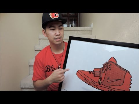 Nike Air Yeezy 2 'Red October' Poster by Kick Posters  2014