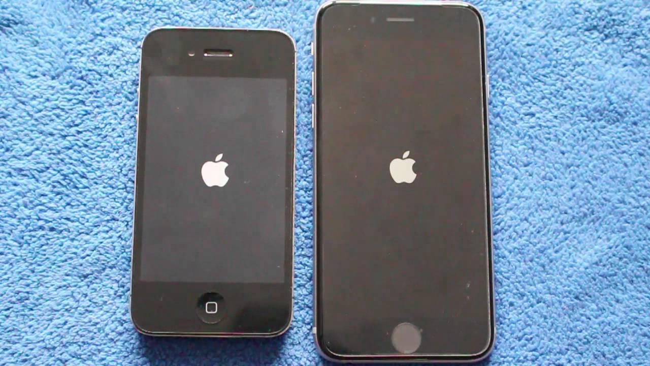Bootvergleich iPhone 4S vs iPhone 6 - YouTube