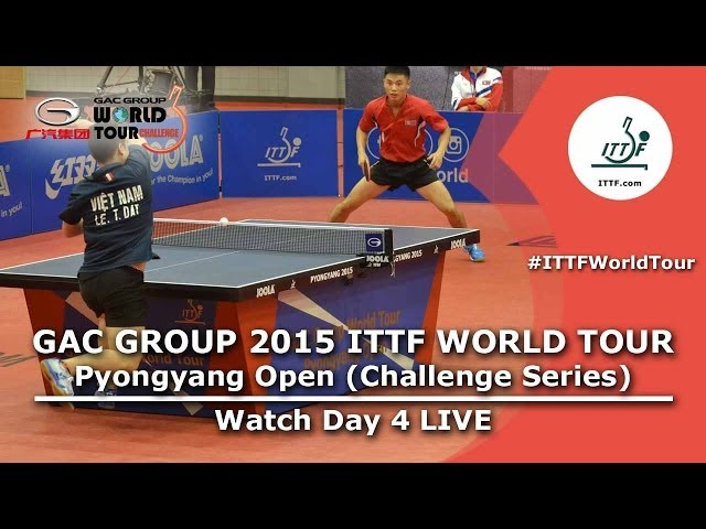 2015 ITTF Pyongyang Open - Day 4 Morning
