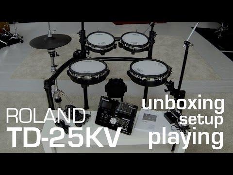 Roland TD-25 KV unboxing // setup // playing