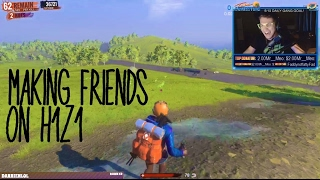 Trying to make friends on H1Z1 (Funny Stream Moments)