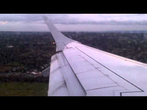 Flybe E195 Landing at London Gatwick Runway 26L