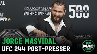 Jorge Masvidal on win over Nate Diaz, 'BMF' belt and The Rock | UFC 244 post fight press conference