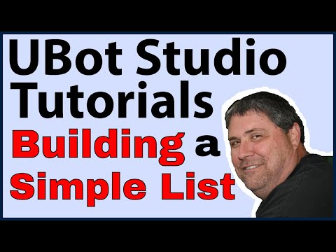 UBot Tutorials: Building a Simple List in v4.0