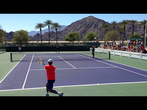 Tommy Haas and Yen Hsun Lu Indian Wells BNP Paribas Open 2013 Practice 3/11/13