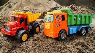 Sand Truck 🚚 Toy Truck for Kids #1- Excavator, Road Roller Play by Dave Mario