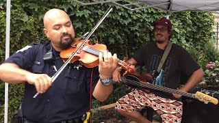 Policeman Shocks Audience By Playing Fiddle