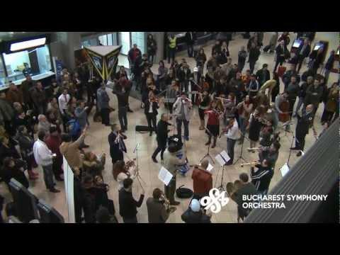 [Official] Flash Mob at Bucharest International Henri Coanda Airport by Bucharest Symphony Orchestra