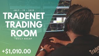 Tradenet Trading Room, July 19: Huge Recovery Day! Scott Earned +$1,010 In Profits!