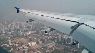 Landing at Mumbai airport (HD)