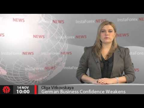 InstaForex News 14 November. German Business Confidence Weakens