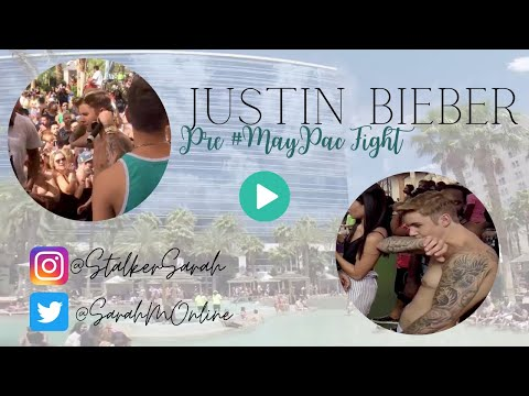 Justin Bieber - Pre MayPac Fight Party at Rehab Las Vegas - on stage