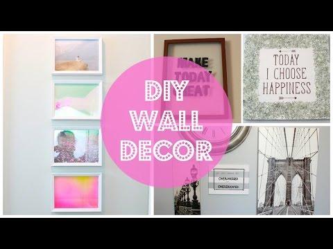 DIY Room Decor! 10 DIY Room Decorating Ideas for Teenagers (DIY Wall Decor, Pillows, etc.)