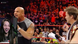 WWE Raw 2/6/17 Goldberg accepts Lesnars Challenge and KO is Next