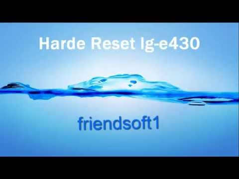 How To Hard Reset LG-E430