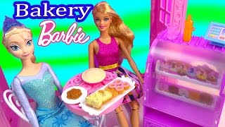 Disney Frozen Queen Elsa Barbie Doll Malibu Ave Bakery Life in the Dreamhouse Playset Toy Unboxing