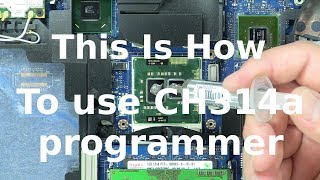 How to use CH341A bios programmer