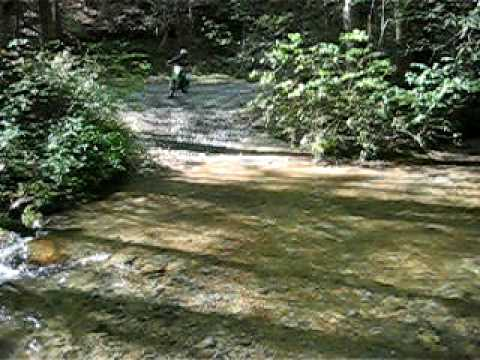 Creek Cossing on Super Sherpas and a KLX 250S dirtbikewnc.com Video