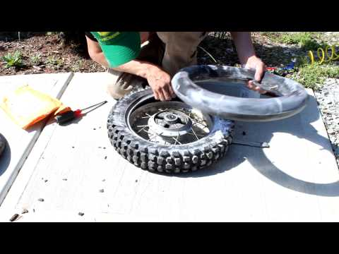Yamaha TTR90 Rear Tire / Tube change dirt bike How to replace tube