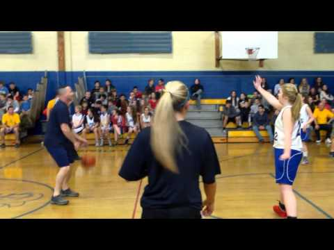 Maple Place Middle School Boys & Girls Basketball teams against the Oceanport Police Dept