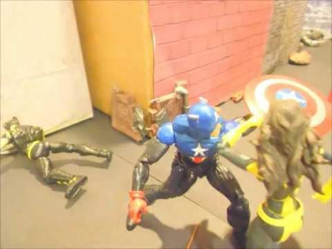 Avengers vs Xmen Stop Motion Fight