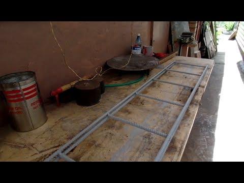 Усиленные полки из арматуры для дачного гаража своими руками