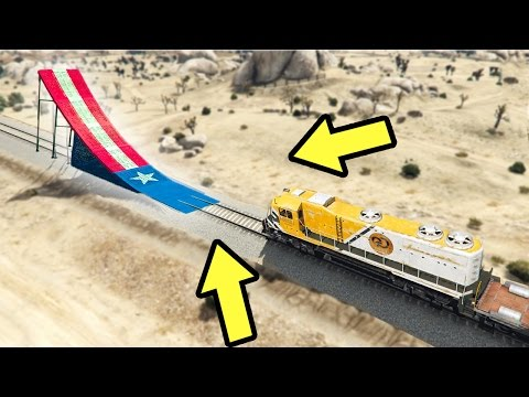 WHAT HAPPENS WHEN A RAMP IS IN FRONT OF A TRAIN IN GTA 5?