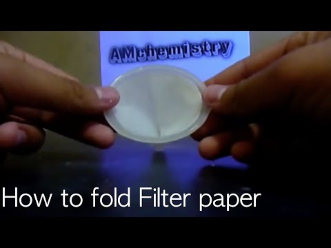 Filter Paper Folding Season 1 How to Fold a Filter