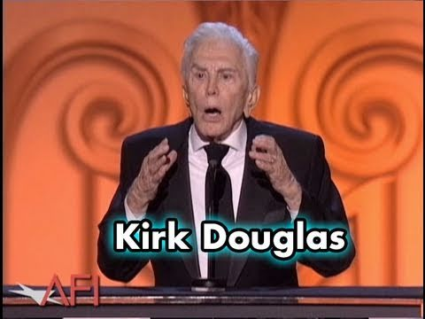 Kirk Douglas Salutes Michael Douglas at 2009 AFI Life Achievement Award