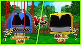 POWER RANGER SECURE BASE CHALLENGE! w/ Little Lizard