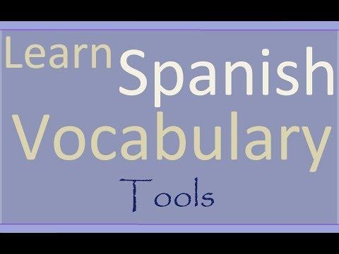 Learn Spanish Aprende inglés Tools - Herramientas ESL