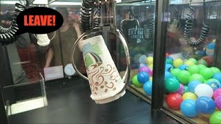 KICKED OUT OF ARCADE FOR CLEANING OUT AN ENTIRE CLAW MACHINE!