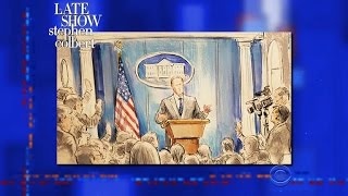 Stephen Leaks Drawings Of Sean Spicer's No-Camera Press Briefing